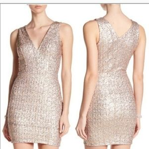 Dress The Population Gold Sequin Dress